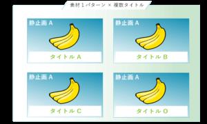クリエイティブ検証用画像パターン_1素材xNタイトル